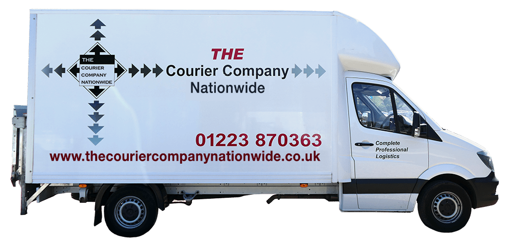 Luton Courier delivery van one of The Courier Company Nationwide vehicles