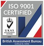 ISO 9001 UKAS certification logo