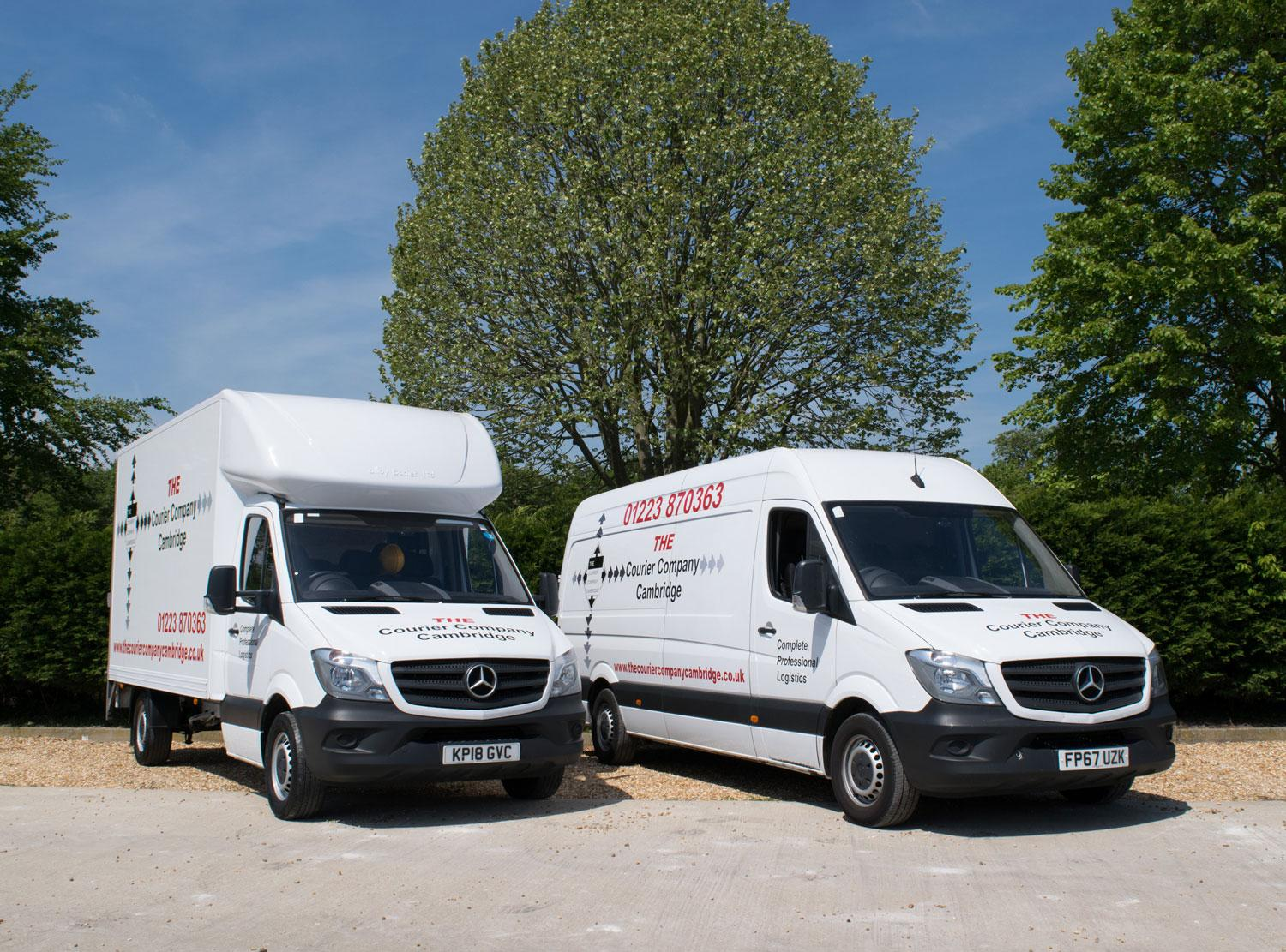 The Courier Company Nationwide delivery vehicle luton and lwb vans
