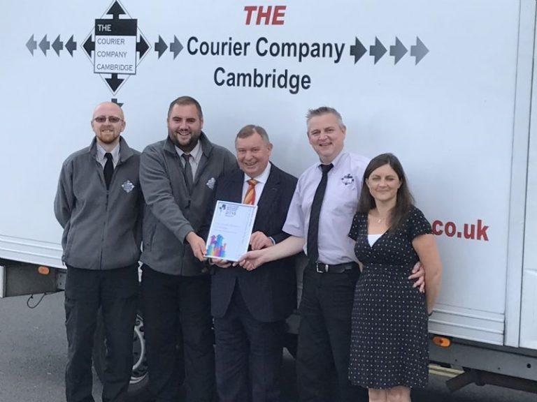 Joshua Arbon and Richard England collect another courier service award