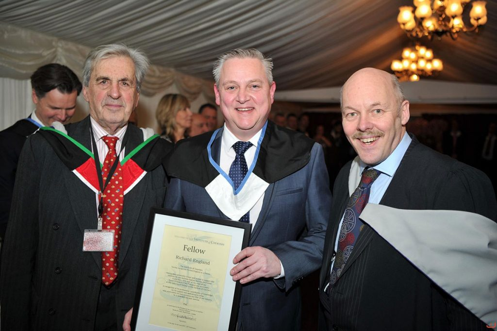 Richard England The Courier Company Nationwide becomes a fellow of the IOC